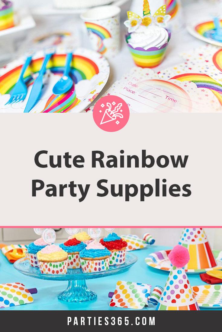 cute rainbow party supplies