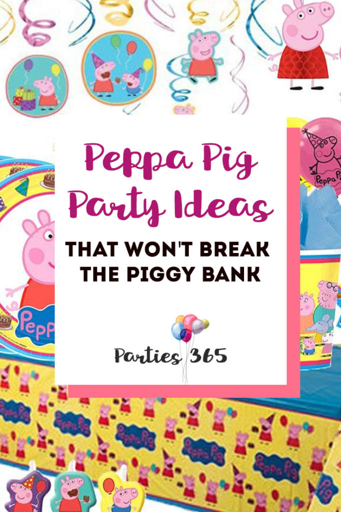 Here are some great Peppa Pig Party Ideas to inspire your next celebration! Peppa Pig Party Decor | Peppa Pig Party Supplies | Peppa Pig Tableware