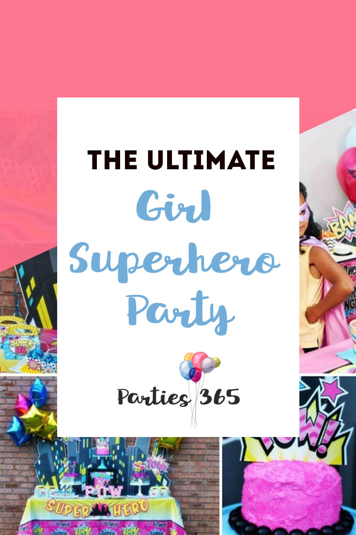 Groovy The Ultimate Girl Superhero Party Parties365 Party Ideas Funny Birthday Cards Online Aeocydamsfinfo