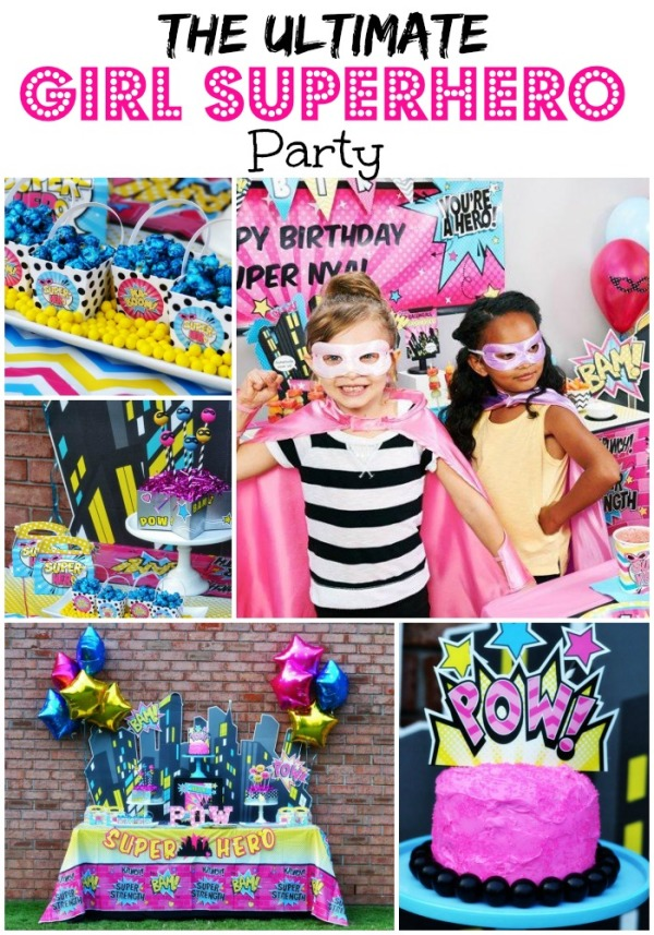 Cool The Ultimate Girl Superhero Party Parties365 Party Ideas Funny Birthday Cards Online Aeocydamsfinfo