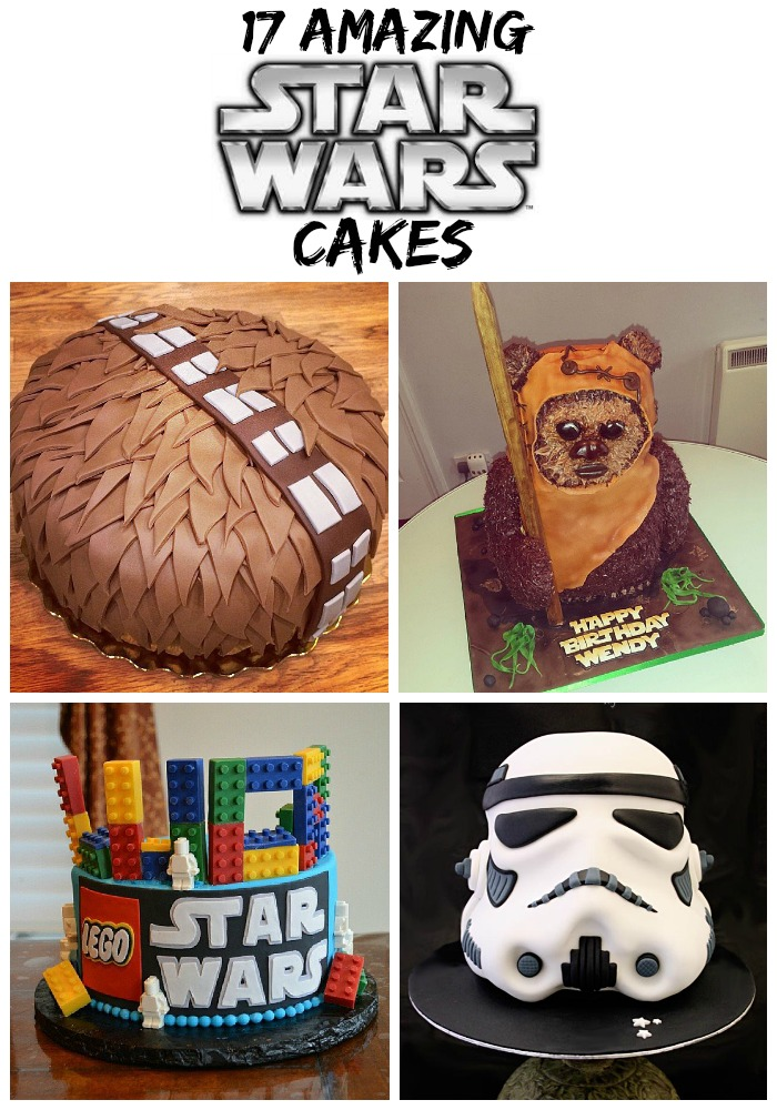 Throwing a Star Wars Birthday Party? We've rounded up some of the best cake options for you! Check out these 17 amazing Star Wars Cakes! #StarWars #cakeideas #birthday