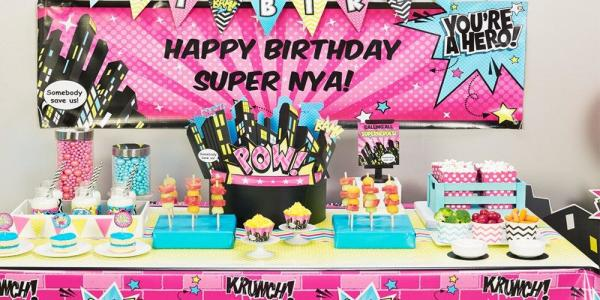Magnificent The Ultimate Girl Superhero Party Parties365 Party Ideas Funny Birthday Cards Online Aeocydamsfinfo