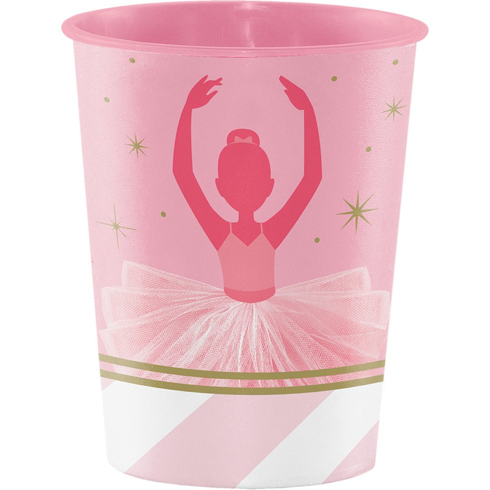 pink ballerina party cups