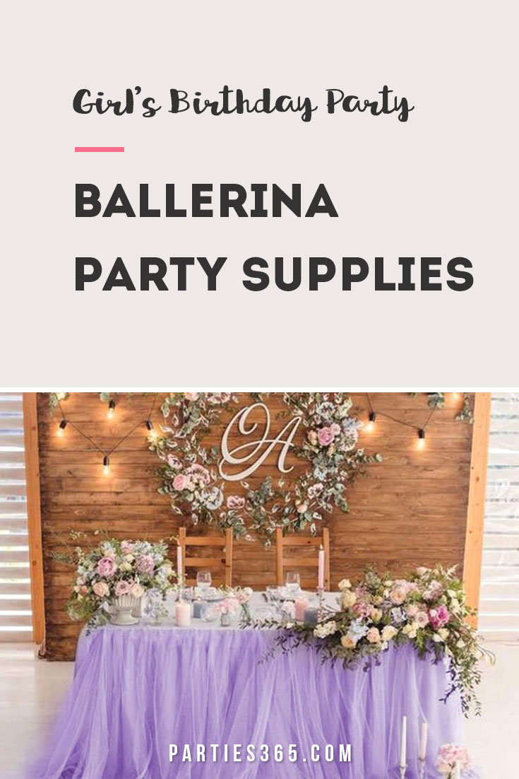 ballerina party supplies and ideas