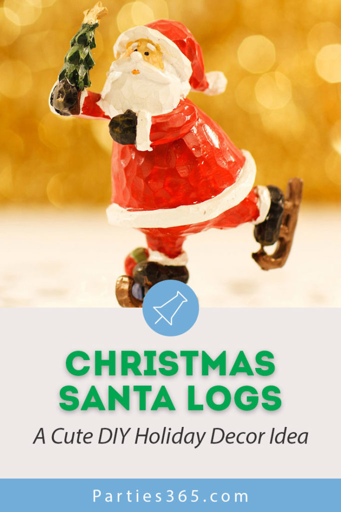 Looking for cute and easy DIY Christmas decor? Or maybe something you can gift or buy? These Santa Logs are the perfect holiday decor or handmade gift item... #holidays #Christmas #giftidea #Christmasdecor #Santa