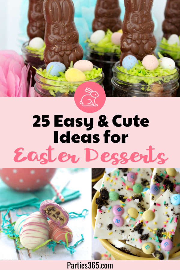 Easter is a holiday perfect for creative dessert ideas! These recipes and decorations are easy, perfect for the kids and from cupcakes to cookies to chocolate, there's something for everyone! #Easter #easterdesserts #easterrecipes