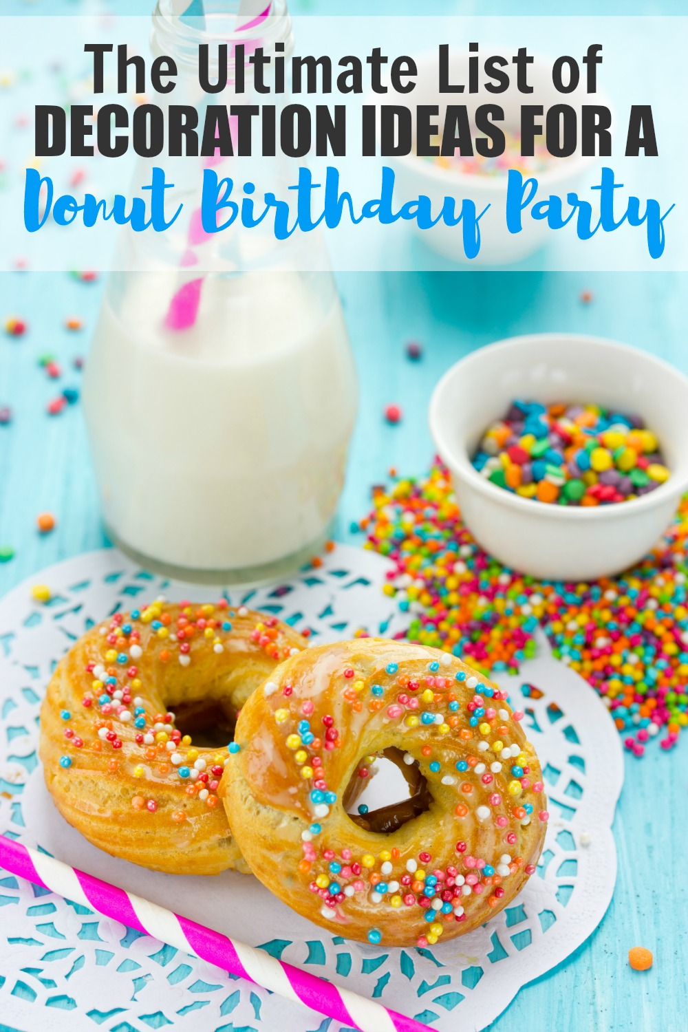 Planning a Donut Birthday Party or Donut Themed Shower? This is the ultimate list of decoration ideas and party supplies for the sweetest party! #donuts #partysupplies #donutparty #parties365