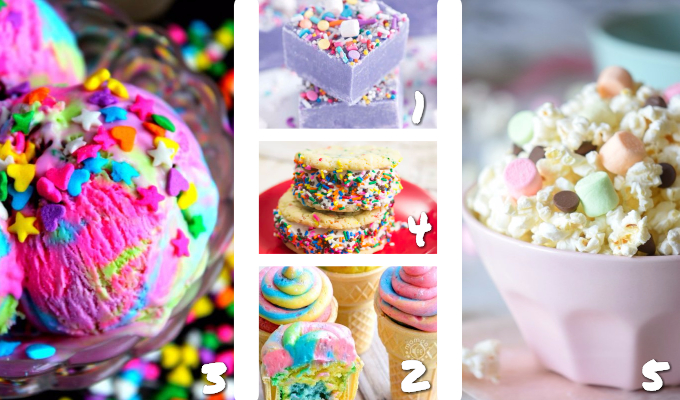 Hosting a magical Unicorn Birthday Party for your little girl and need ideas for food? We've rounded up the best Unicorn Party Snacks for you right here to make it easy #Unicorn #unicornparty #birthday #parties365