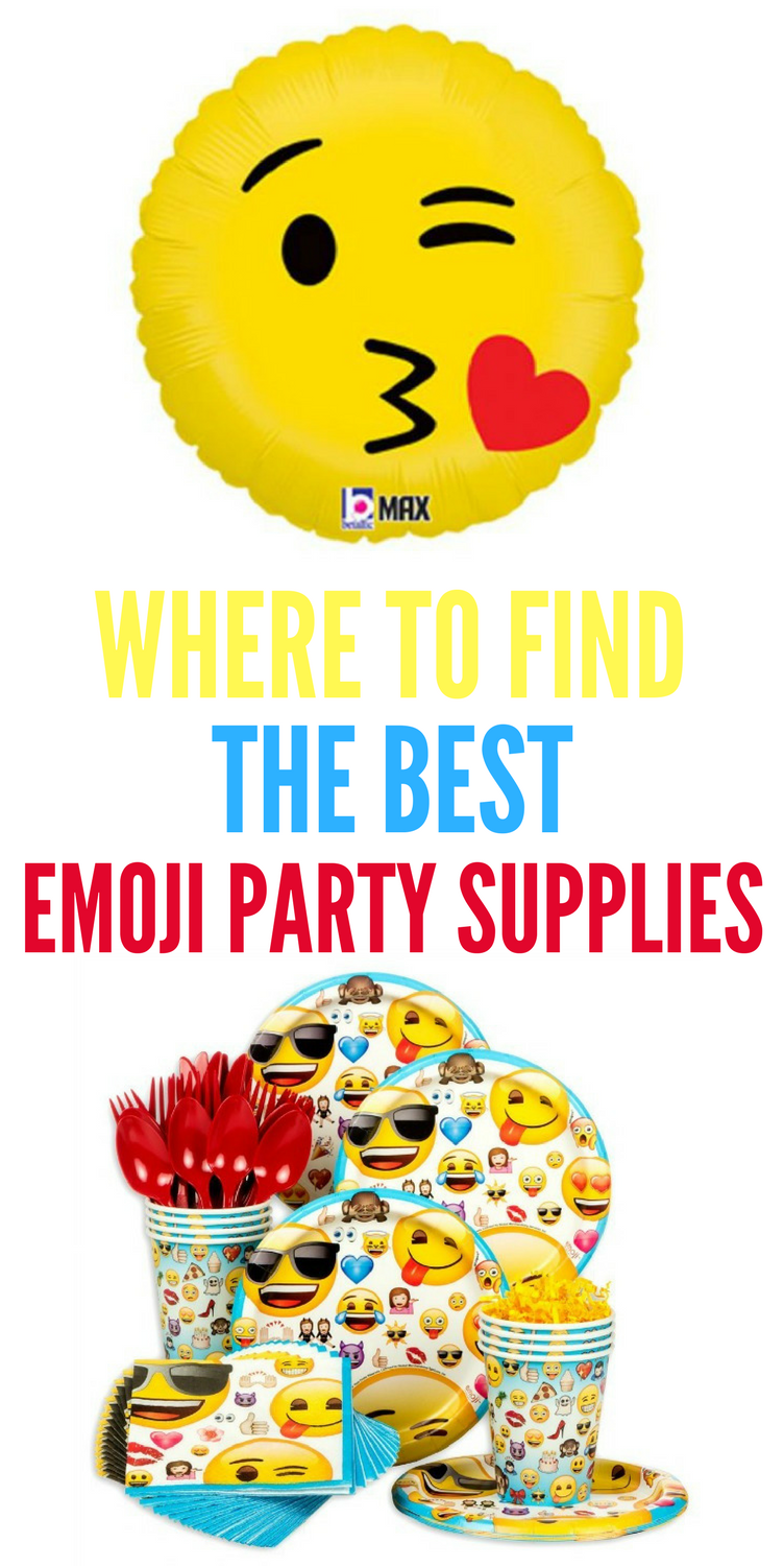 Emoji Party Supplies Are Hot Right Now And We Have All The Details On Where You