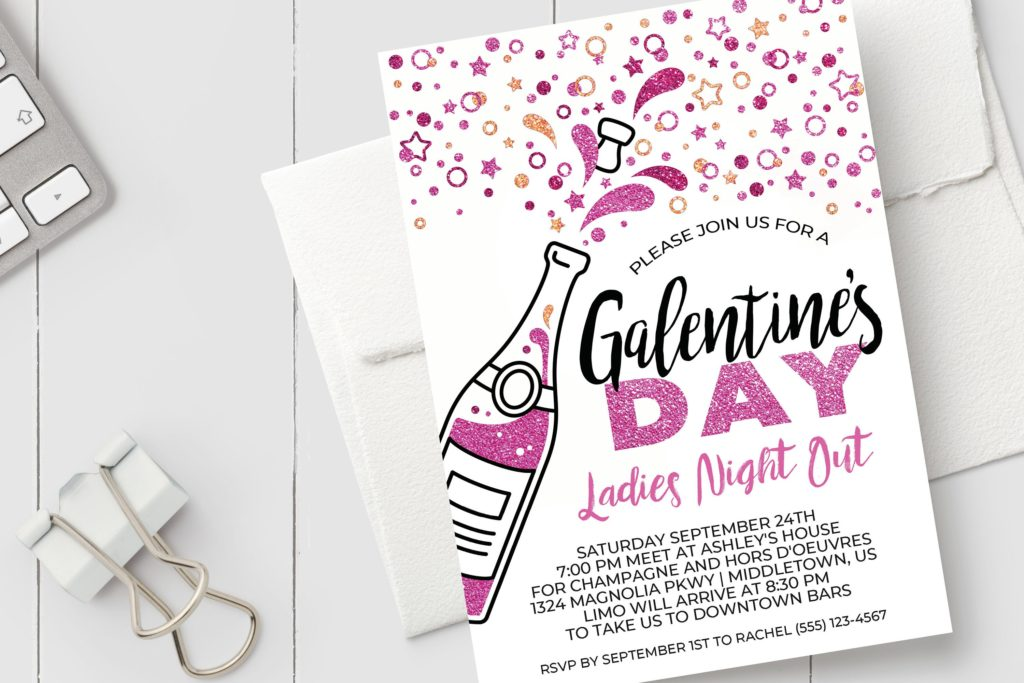 Want to throw a Galentine's Day Party for your friends? Whether it's girl's night or brunch, we have all the ideas you need for decorations, invitations, food and more! #GalentinesDay #Galentines #Valentines #partysupplies