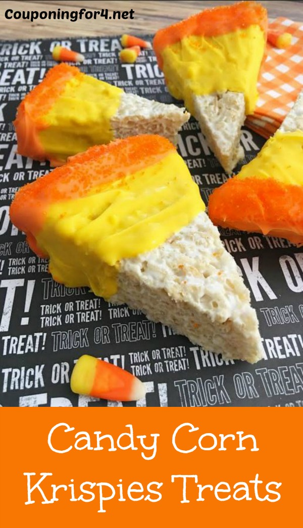 Raise your hand if you love Halloween? Now keep 'em raised if you love Halloween Rice Krispie Treats! Whomever the genius was that discovered the goodness that is Rice Krispies and marshmallows combined, I'd like to shake your hand.