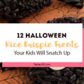 These 12 Halloween Rice Krispie Treats are sure to be a hit at your Halloween Party or at the class party! Halloween Treats | Rice Krispie Treats | Halloween Party Food