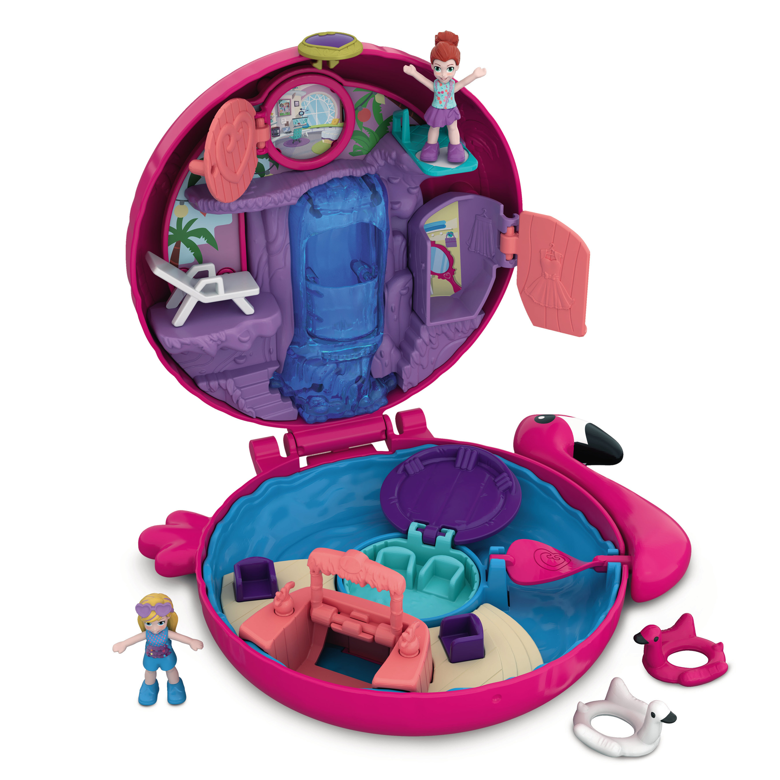 Mattel Polly Pocket toys - Each Polly Pocket Pocket World opens to a specific theme such as a Snow Globe, Mall, and Music Box. Each compact has secret reveals and is full of adventures waiting to be discovered. #toys #dolls #pollypocket #christmas