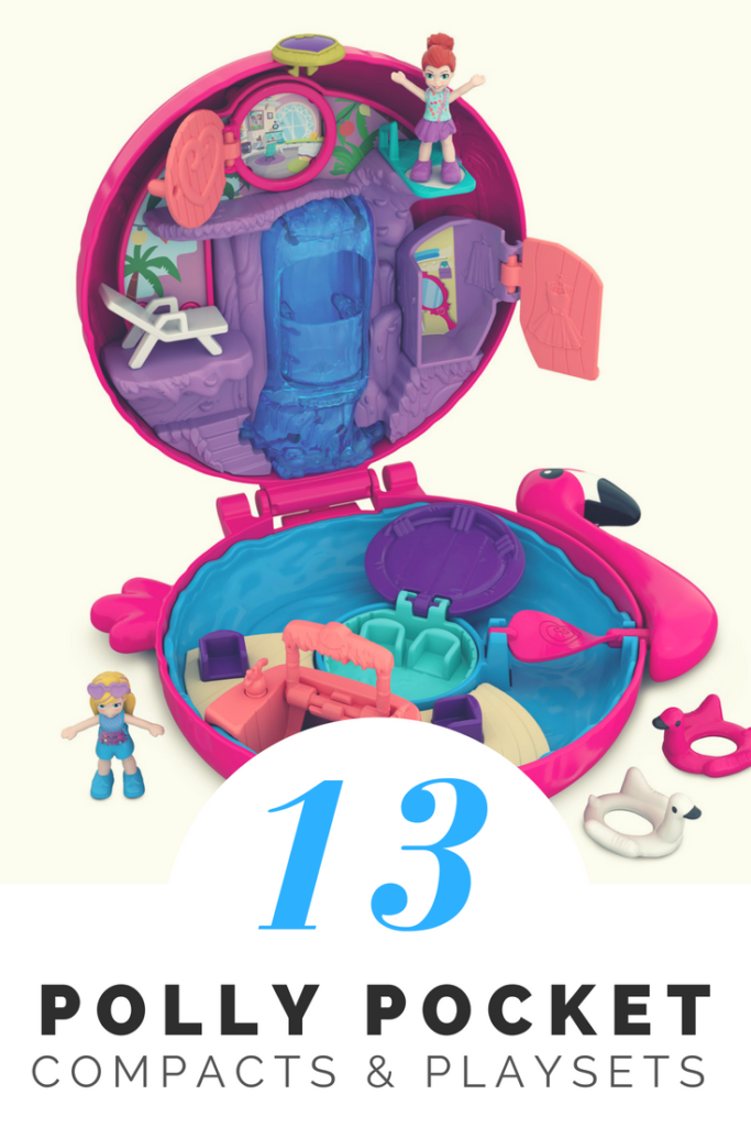 Looking for a unique gift idea for a girl's birthday or for Christmas? How about some old school Polly Pocket Toys? Here are some fun nostalgic options! #giftguide #Christmasgift #Birthdaygift #giftsforgirls #pollypocket