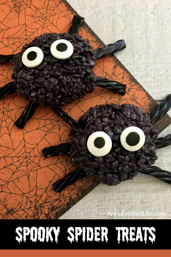 Does the idea of making Spider Rice Krispie Treats intimidate you a little? Don't let it because they're just as easy as the pumpkin ones!