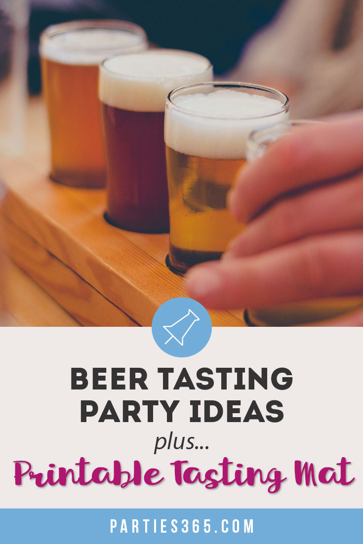 This Beer and Bacon Tasting 40th Birthday Party is full of inspiration for your next party! Plus, grab our printable tasting mat as an activity for your guests!