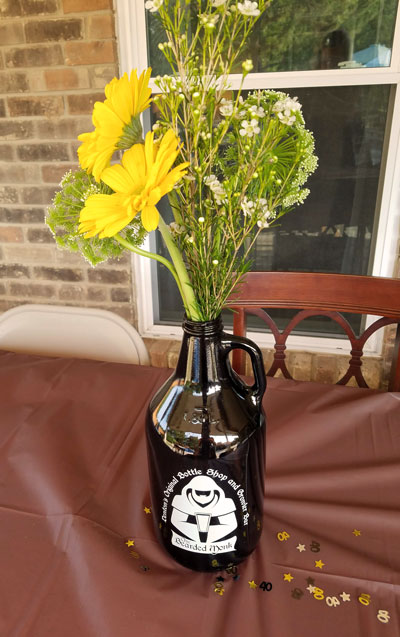 Flowers for a Beer Tasting Party