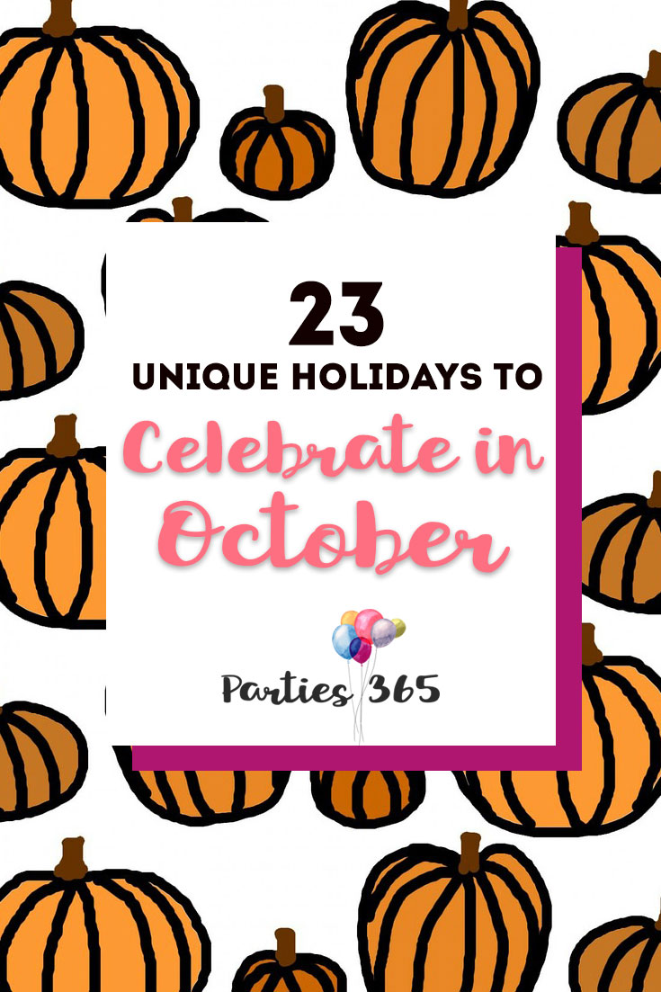 unique holidays to celebrate in october
