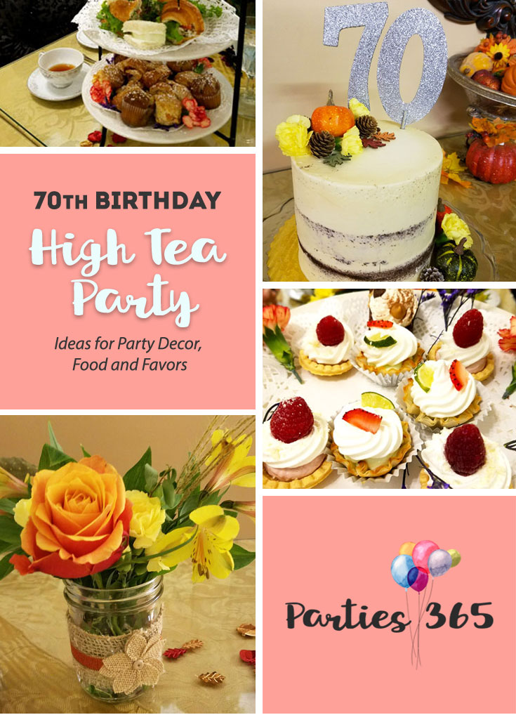70th Birthday Party High Tea Party Parties365 Party Ideas