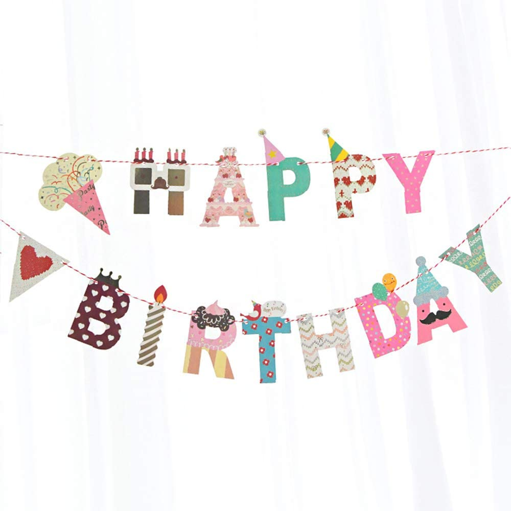 whimsical happy birthday banner