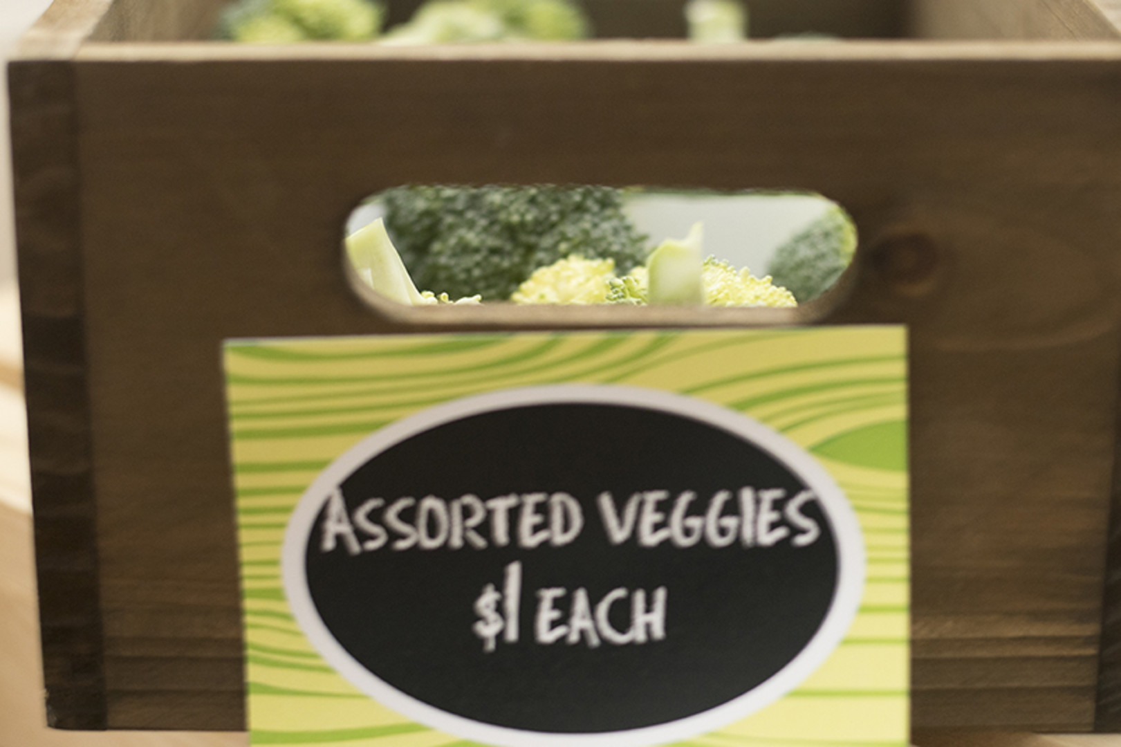 veggies at grocery store themed first birthday party