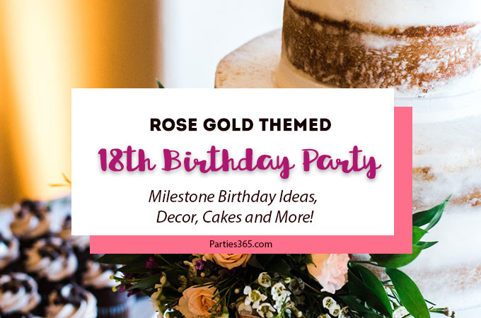 If you're looking for 18th Birthday Party Ideas, we have a stunning rose gold themed combo 18th Birthday and Graduation Party for you! Check out the decor, food and more here! | Graduation Party Decorations | Rose Gold Party Ideas
