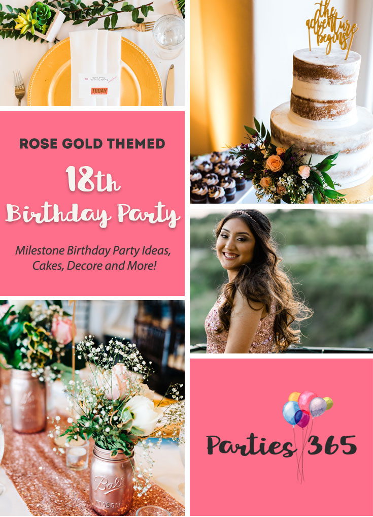 18th Birthday Party: A Rose Gold Graduation | Parties365 com