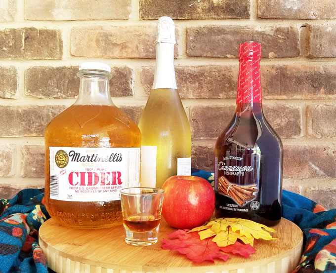 apple cider and fall cocktail ingredients