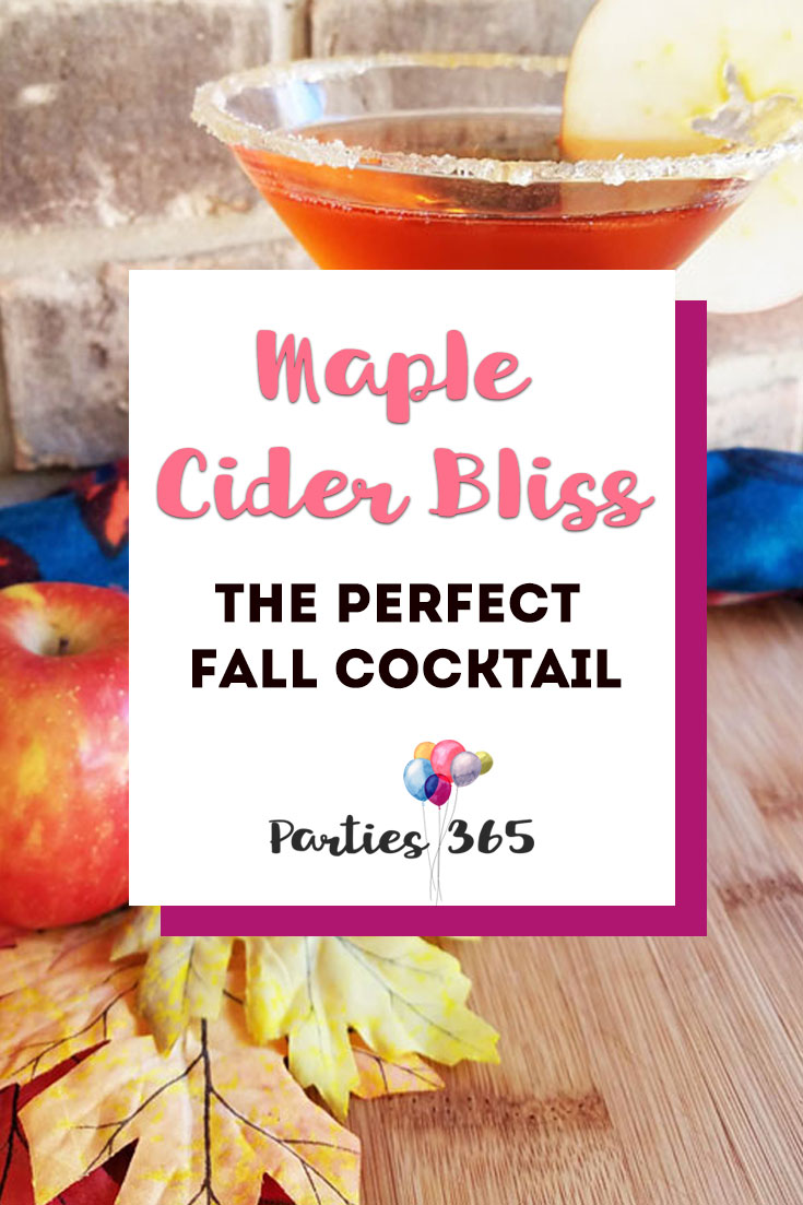 maple cider bliss fall cocktail recipe