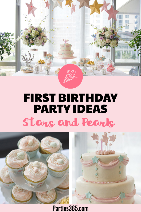 first birthday party ideas stars and pearls