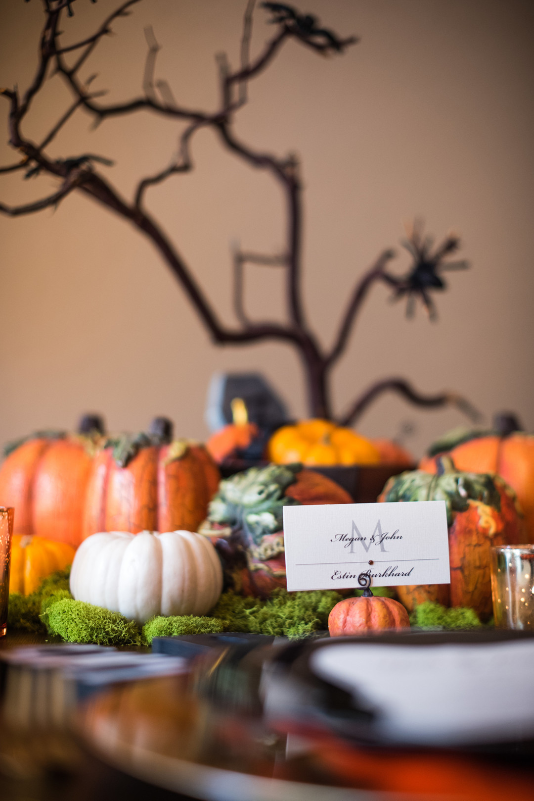 Looking for fun and spooky Halloween Tablescape Ideas and Centerpieces? This Halloween table setting would be perfect for a dinner party or an everyday display. #Halloween #HalloweenDecor #Tablescape #Centerpiece #HalloweenParty #Parties365