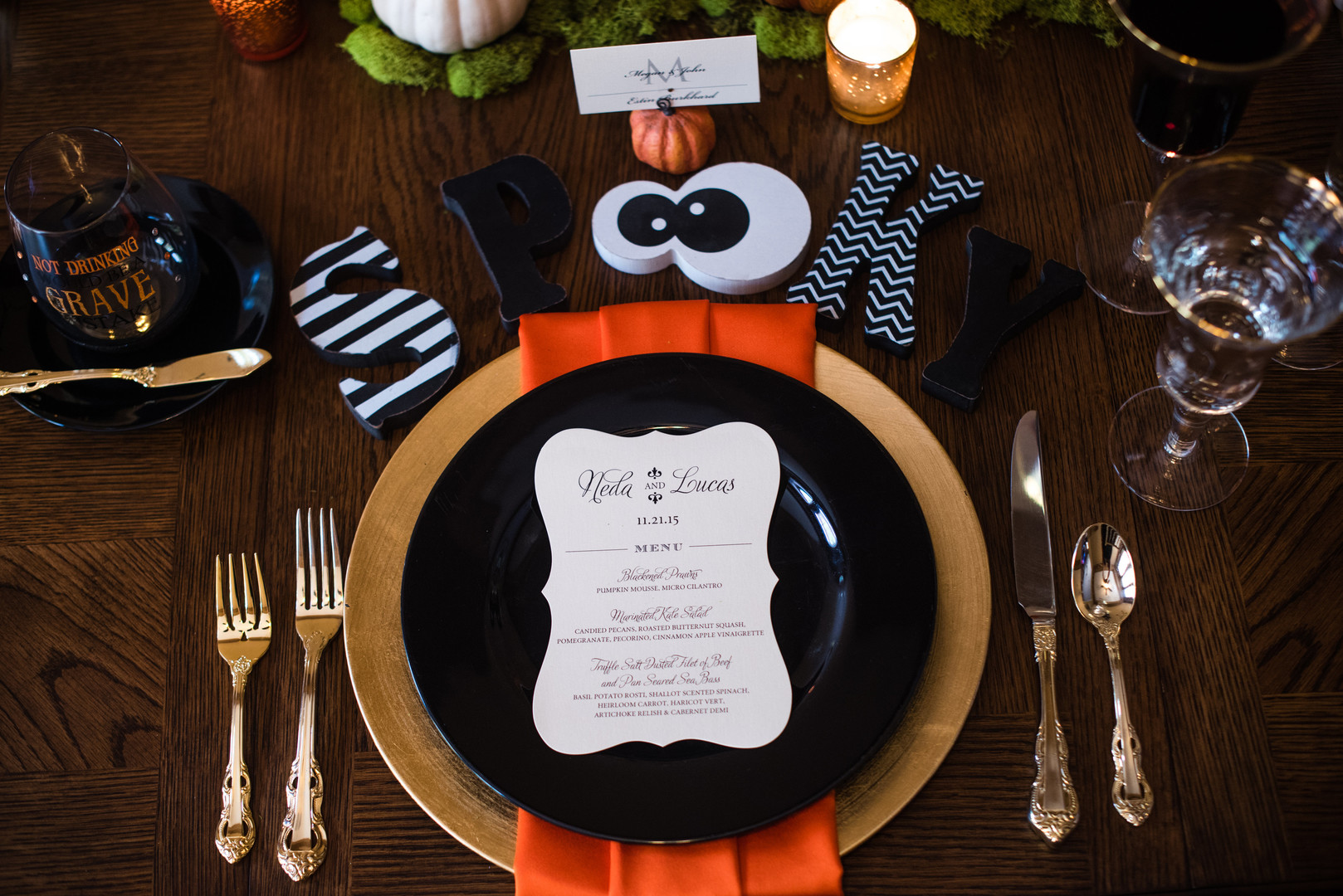 Halloween Dinner Table Setting.Halloween Table Setting Parties365 Party Ideas Party
