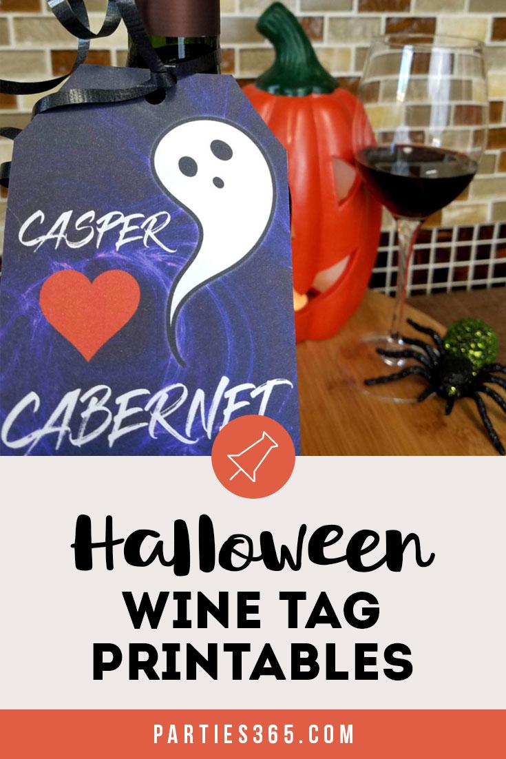 Halloween wine tag printables