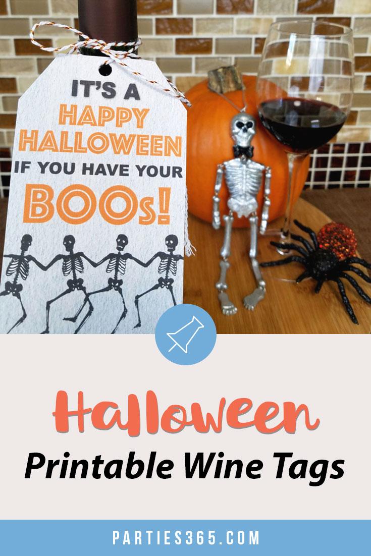 halloween printable wine tags