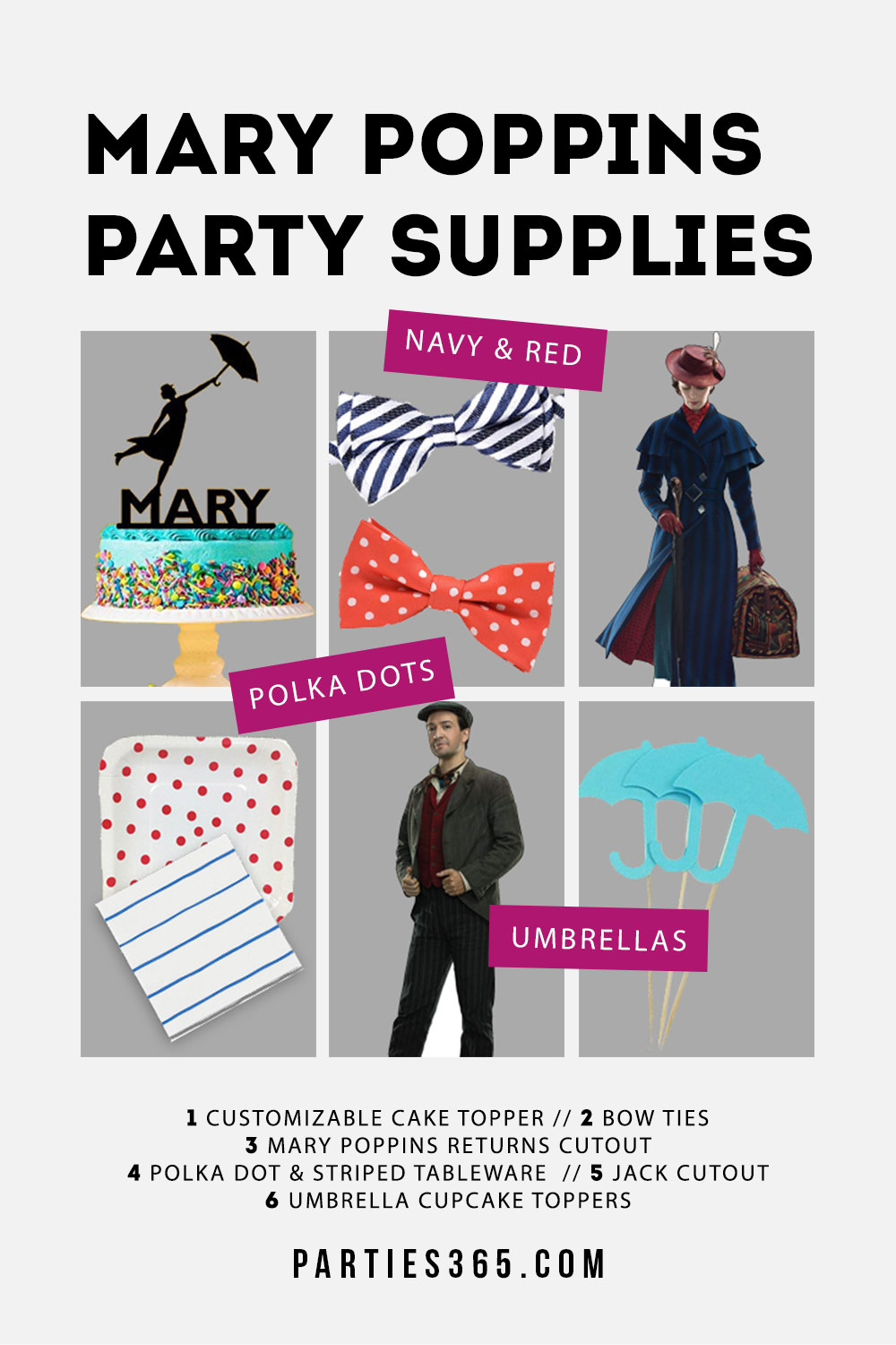 Mary Poppins Party supplies and ideas
