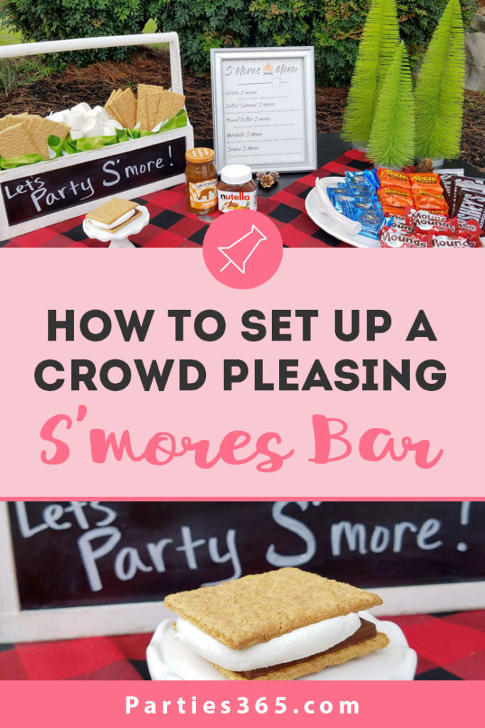 how to set up a smores bar