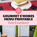 smores menu printable