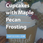 spice cupcake recipe with maple pecan frosting