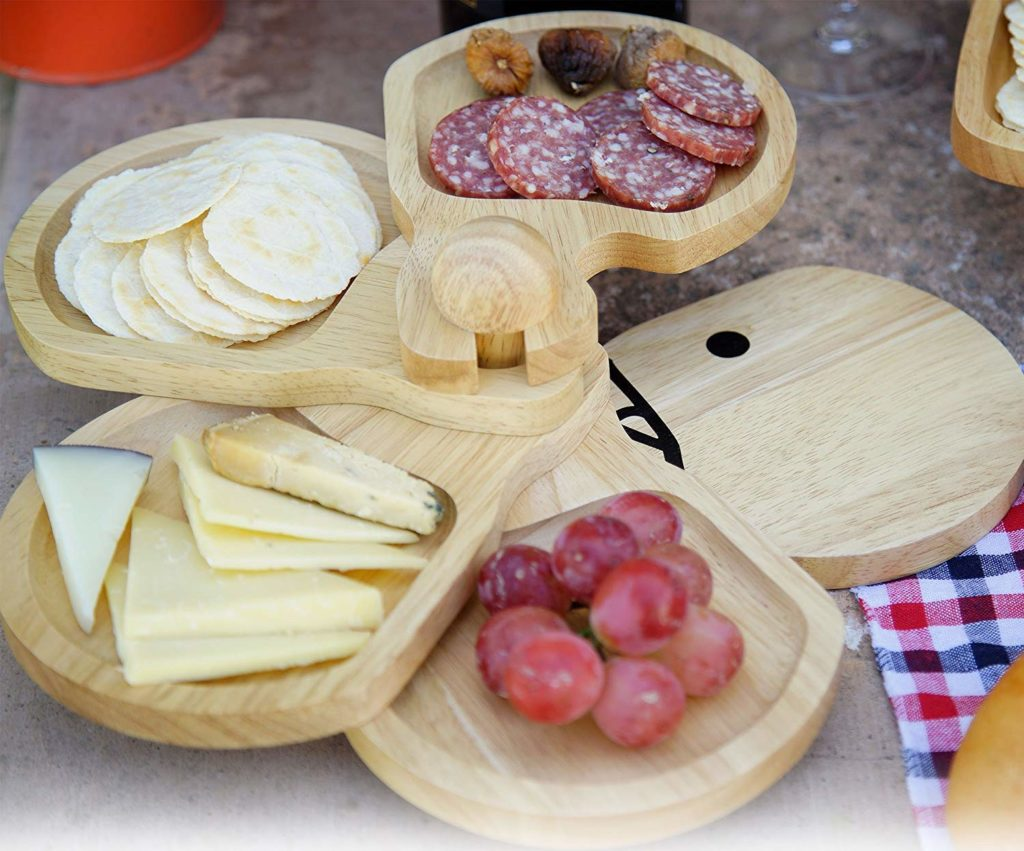 wooden cocktail plates