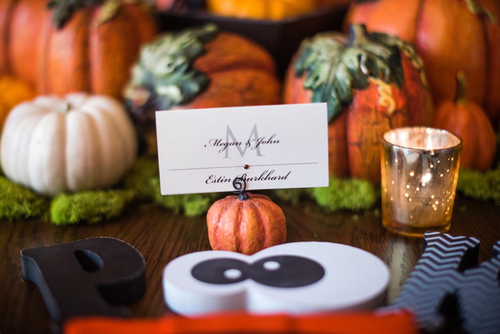 pumpkin name plate holder