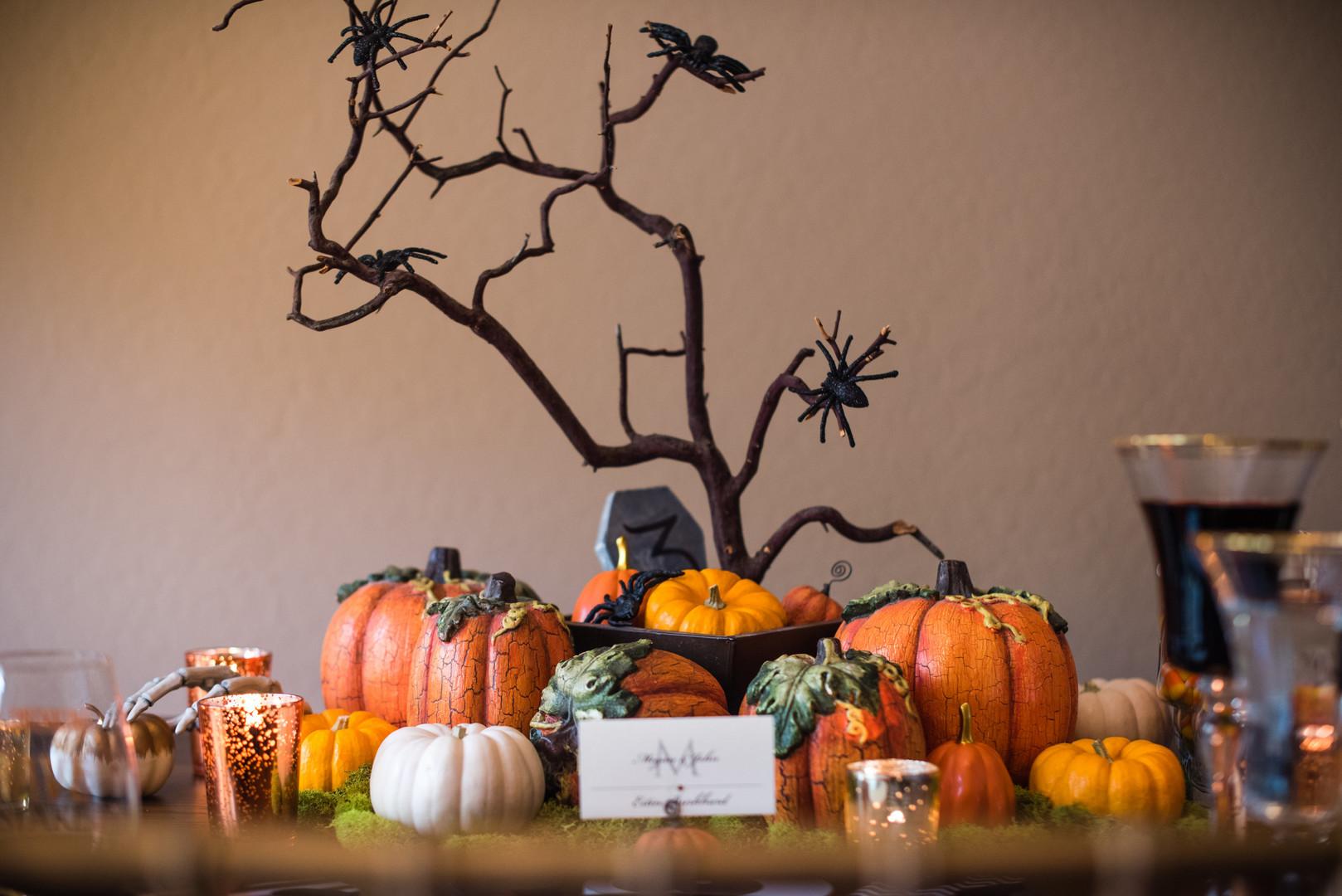 halloween pumpkin centerpiece