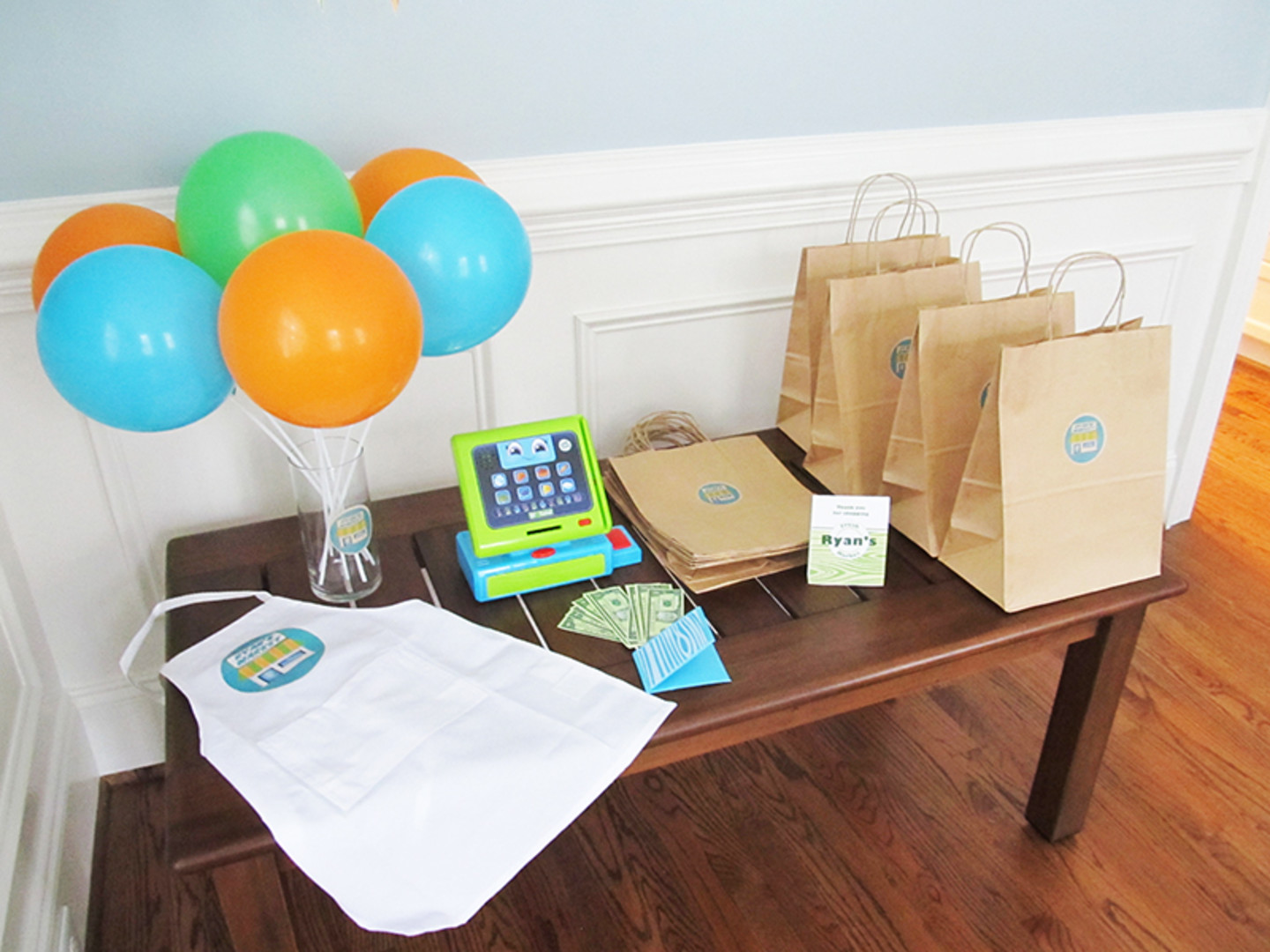 grocery store cash register toy for birthday party