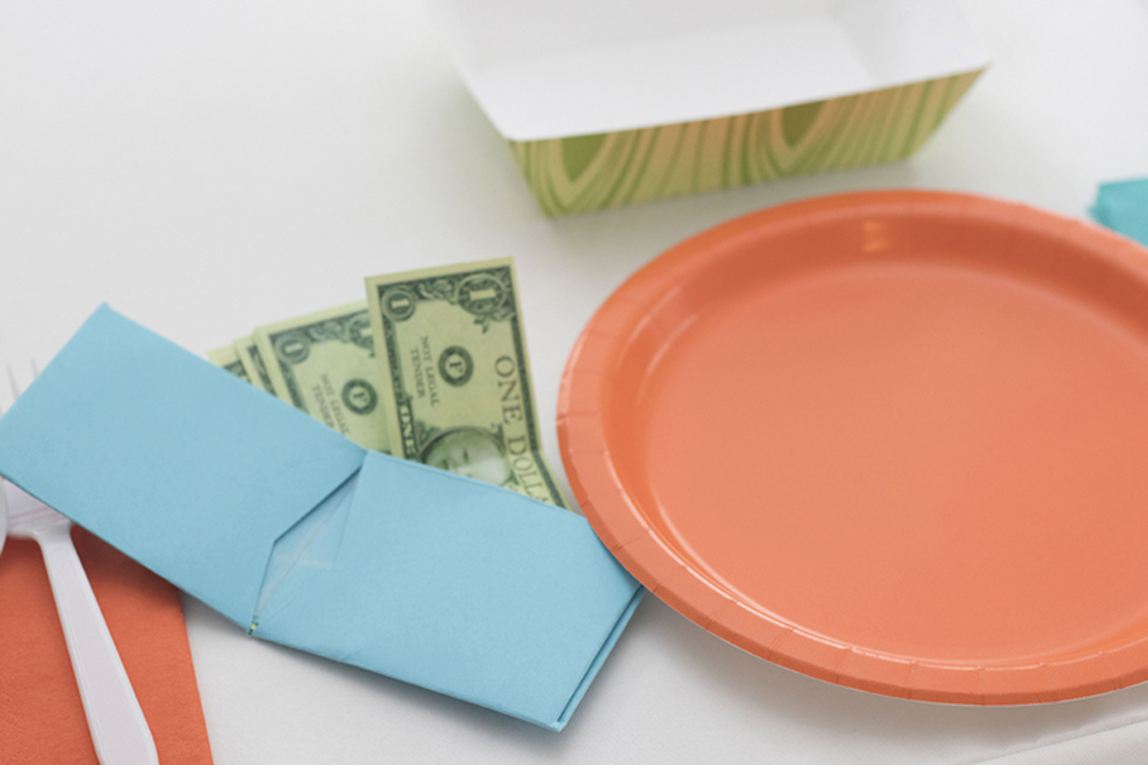 play money and wallets for grocery store first birthday party