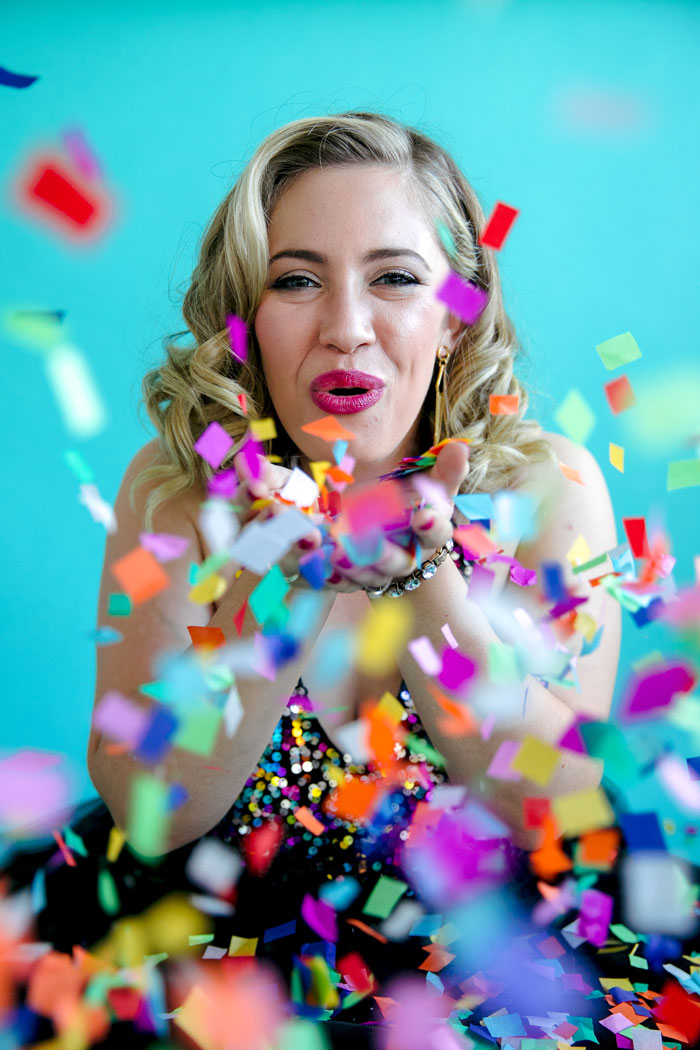 Want to plan a birthday photoshoot and looking for ideas? Here's some inspiration for women planning their 16th, 18th, 21st, 30th, or more photo shoot including outfits, confetti and cake ideas! #birthday #photoshoot #30thbirthday