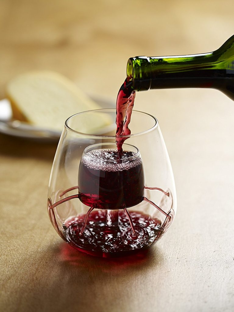 stemless aerating wine glass gift idea