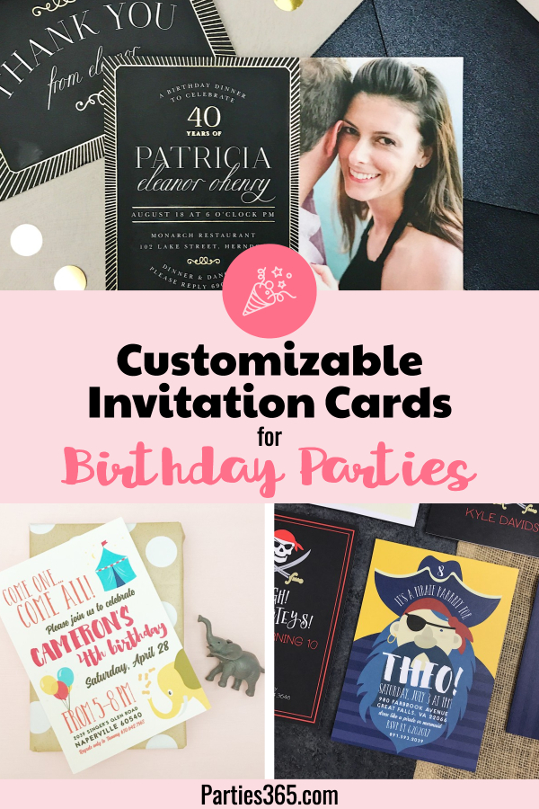 Customizable Invitation Card For Birthday Parties
