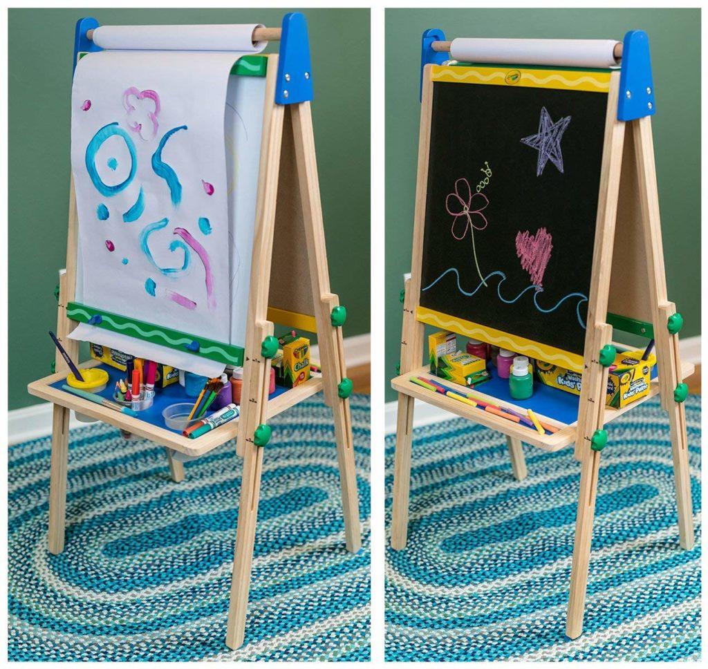 wooden easel gift idea for kids