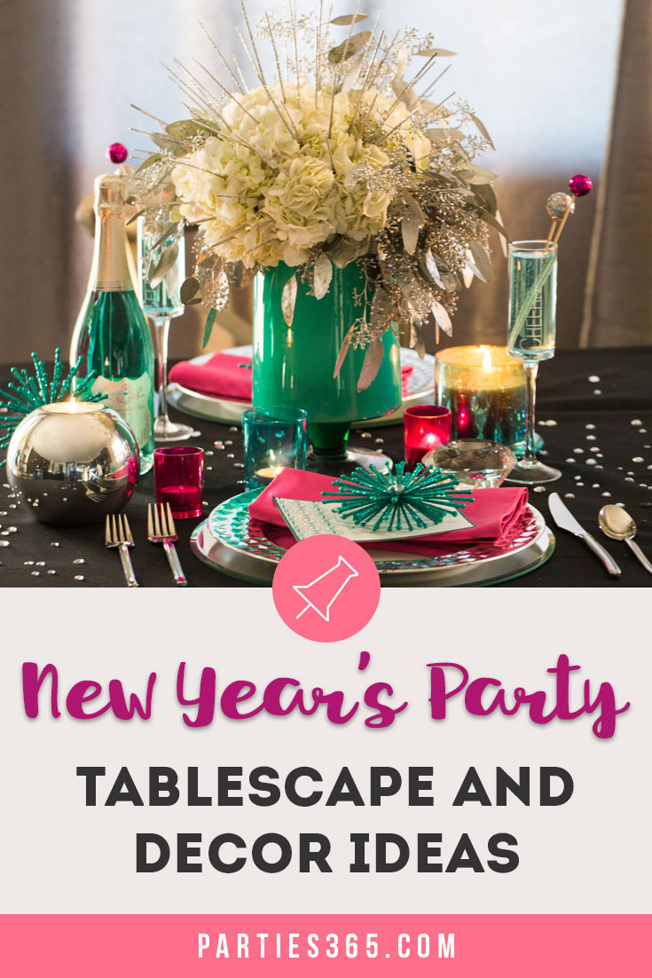 New Year's Party Tablescape and Decor Ideas