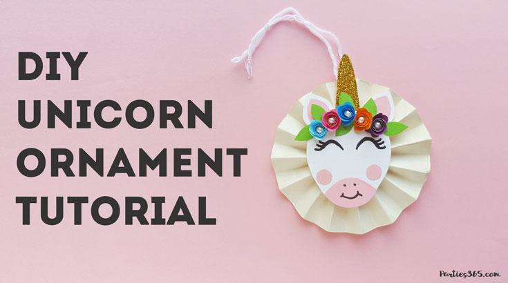 DIY Unicorn ornament tutorial