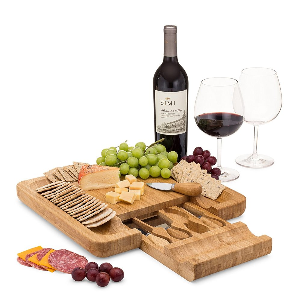 cheese board gift idea for wine lovers